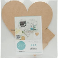 Beyond The Page MDF Heart Shelf