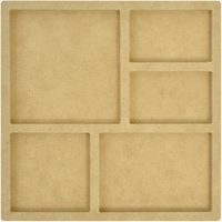 Beyond The Page MDF Mini 5-Opening Shadow Frame