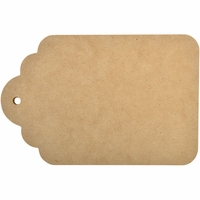 "Beyond The Page MDF Scalloped Tag Album 8""x5.25"""