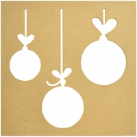 "Beyond The Page MDF - Silhouette Wall Art 12""x12"" - Frame Baubles"