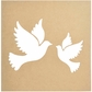 """Beyond The Page MDF - Silhouette Wall Art 12""""x12"""" - Frame Doves"""