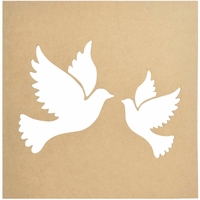 "Beyond The Page MDF - Silhouette Wall Art 12""x12"" - Frame Doves"
