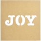 """Beyond The Page MDF - Silhouette Wall Art 12""""x12"""" - Frame Joy To The World"""