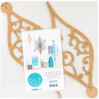 Beyond The Page MDF - Tear Drop Bauble Ornament