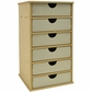 Beyond The Page MDF - Tower Storage w/6 Chipboard Drawers