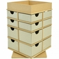 Beyond The Page MDF Turntable Drawers w/Tray Top