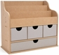 Beyond The Page Woodcraft - Large Desk Organizer