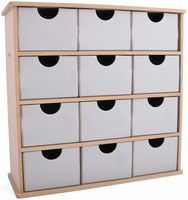 Beyond The Page Woodcraft - Storage Box w/12 Chipboard Drawers