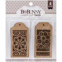 BoBunny Laser-Cut Chipboard - Lace Tags
