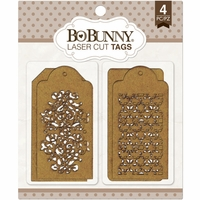 BoBunny Laser-Cut Chipboard - Trellis Tags