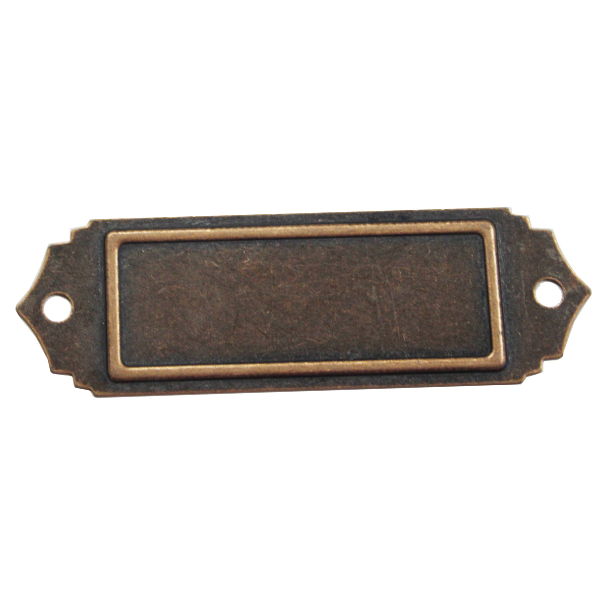 Brass Embellishments Scalloped Name Plate