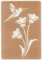 Brass Embossing Stencil - Bird Flower