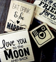 Cam & Chloe Wood Mounted Stamps