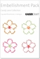 Candy Lane Embellishment Pack - Rhinestone Flowers