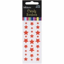 Candy Star Stickers - Red - Click to enlarge
