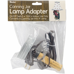 Canning Jar Candlestick Lamp Adapter - Click to enlarge