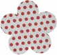 Canvas Shapes - Flowers/Red Polka Dot