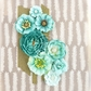 "Capistrano Paper Flowers 1.5"" to 2.5"" - Blue Punch"