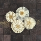 "Capri Paper & Fabric Flowers - Zinfandel  2"" to 2.5"""