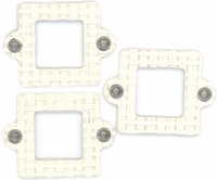 Cardstock Mini Frames - Cream/Square With Eyelets