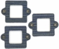 Cardstock Mini Frames - Denim/Square With Eyelets