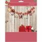 Christmas Card Display Garland Kit - Poinsettia