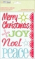 Christmas Cheer Chipboard Stickers - Words