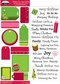 Christmas Fun Glitter Matteboard Stickers/Rub-Ons - Tags & Phrases