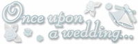 Cinderella Wedding Collection Title Stickers - Once Upon A Wedding