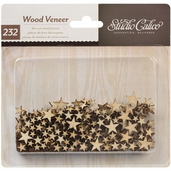 Classic Calico Vol. 2 Laser-Cut Wood Veneer Shapes - Tiny Stars - Click to enlarge