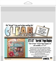 "Clear Scraps Acrylic Page Frame 12""x12"" - Clear"