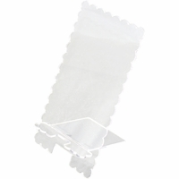 Clear Scraps Acrylic Phone Stand - Scalloped