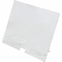 Clear Scraps Acrylic Tablet Stand - Scallop