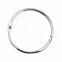 Clear Scraps Chrome Book Ring 1.5""