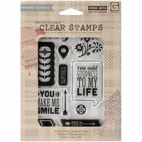 Basic Grey Clear Stamps