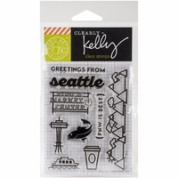 Clearly Kelly Destinations Stamps - Greetings From Seattle