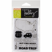 Clearly Kelly Destinations Stamps - Road Trip