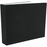 "Colorbok 3 Ring Fabric 12""x12"" Album - Black"
