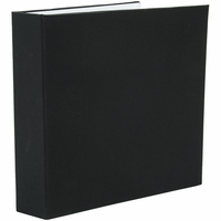 "Colorbok Fabric 3 Ring 8.5""x11"" Album - Black"