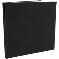 "Colorbok Fabric Post Bound 12""x12"" Album - Black"