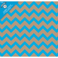 "Colorbok Post Bound 12""x12"" Album - Kraft Chevron Blue"