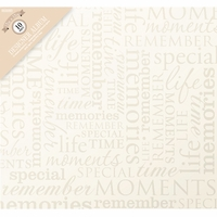 "Colorbok Post Bound 12""x12"" Album - Memories -Cream"