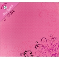 "Colorbok Post Bound 12""x12"" Album - Pink Butterflies"