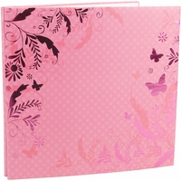 "Colorbok Post Bound 12""x12"" Album - Pink Flourish"