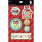 Colors Of Christmas Sticker Stackers - Peace