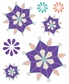 ColorStories Epoxy Stickers - Purple Snowflower