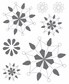 ColorStories Epoxy Stickers - White Snowflower
