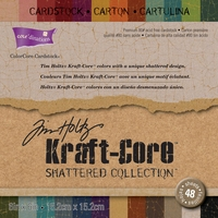 "Core'dinations Kraft Core By Tim Holtz® Cardstock Pad 6""x6"" - Shattered"