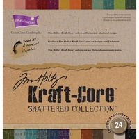 "Core'dinations Tim Holtz® Kraft Core Cardstock Pad 12""x12"" - Shattered"