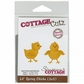 "CottageCutz Die 3""x3"" - Lil' Spring Chicks Made Easy"